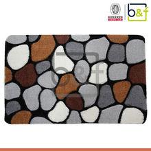 High grade quality massage soft polyester shaggy reflexology stone mat