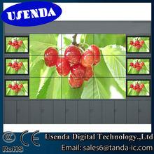 lowest price best quality narrow bezel 46inch 3x3 multimedia video wall