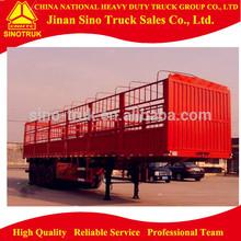 12 wheels 3 axles Fence Cargo Trailer for bulk transportation