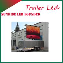2014 new design p10mm mobile advertising board for trailer