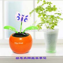 car decoration flip flap solar flower/apple flower