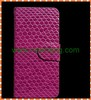 Luxury Diamond snake grain Wallet Leather Case with card slot for iphone 5 5g