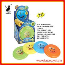 19.6cm smile faces child plastic flying disc dog