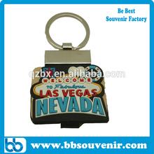 las vegas keychain PVC key chain las vegas souvenirs