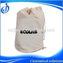 100% Natual Drawstring Cotton Barrel Bag