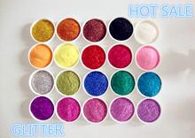 Super rainbow series glitter powder for decoration.