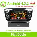 السيارات وسائل الاعلام لاعب لشركة فيات doblo 4.2 الشاشة مع الروبوت capactive، نظام تحديد المواقع، bt، ridio، حالات