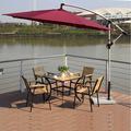 colorato ombrellone da giardino con tavolo