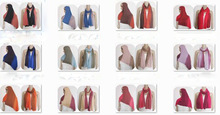 NEW Romantic 2 colors Ombre jersey Scarf hijab fashion style shawl wraps