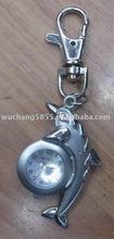 alloy clock shaped keychain/metal keychain