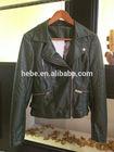 Ladies PU leather top jacket fashional coat