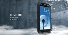 2014 New Powerful Waterproof Dirtproof Armor Gorilla Glass Aluminum Cases Cover For Samsung Galaxy S3 i9300 Defender