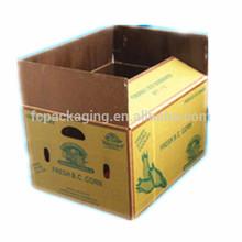 Customized Printed Waterproof Vegetables Packaging Waxed Cardboard Boxes