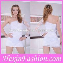 Wholesale New Style sexy hot babydoll sleepwear lingerie white silk
