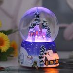 newest led Christmas Crystal ball music box for children gifts