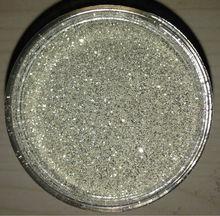 Pure silver glitter powder for decoration