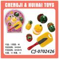 2014 caliente de ventas de alto grado los niños cocina de frutas de plástico conjunto juguetes