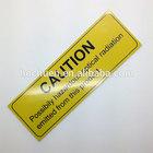 3M adhesive metal nameplate printing