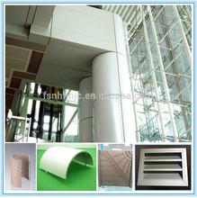 waterproof different shapes aluminum exterior decorative wall panel siding