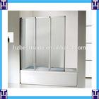 HTSE-8712C shower screen australia standard three folding bathtub shower door