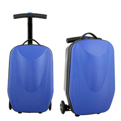 abs pc trolley luggage with retractable wheels