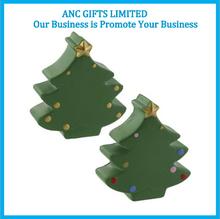 logo brand christmas wholesale pu stress tree