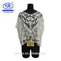 Yjc8864-5 china fabricante 2014 popular algodão bordado laço de seda bordado das senhoras blusa