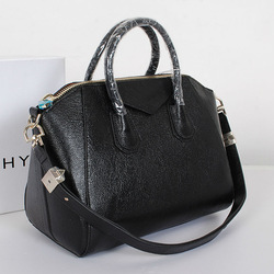 2014 Italian brand handbags black real leather bags woman