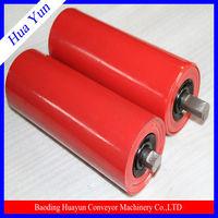 Paint roller with pattern under plaster spraying machine