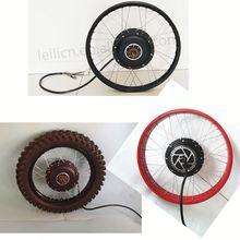 120km/h speed 48V-96v brushless hub motor 5000w electric bicyle motor wheel made in China