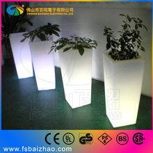 led flower pot color changing planter light up outdoor furniture