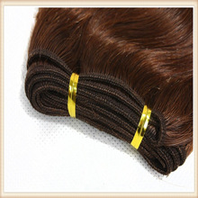 Top Quality 20 Inch Natural Brown loose wave Wholesale Price Brazilian Virgin Remy Hair Weft silky straight hair