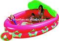 morango inflável piscina