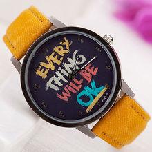 New Hand make Jean Women Fabric Watch Fashion Ladies Watches for Girls Bargain graffiti art Style DW011