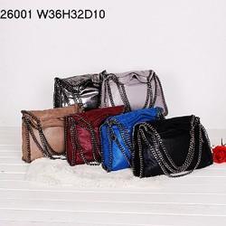 2014 Trendy multicolor genuine leather chain shoulder women bags