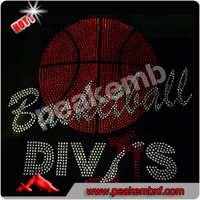 Superior Quality Rhinestone Basketball Diva Transfer High Heel Shoe Iron on