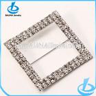Square wedding chair brooch sash rhinestone ribbon buckle