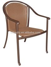 lightweight folding outdoor reclining chair in brown wicker