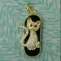 Oem mini joyería usb del gato del gato de la pluma de la historieta en coche 32 gb