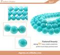venta al por mayor 2014 grado aaa 10mm redondo liso natural en bruto amazonita peruana para la fabricación de joyas