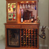 Living room wine glass display cabinet