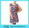 American Style Women Floral Flowers Flared Dress Western Wear