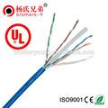 Cmr ul cm cat6 puro cobre awg 23 305m/1000ft por unidad 0.56/0.58mm ftp cat6 cable lan
