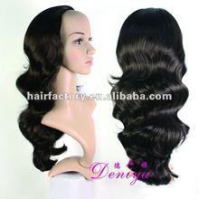 fashion synthetic half wig body wave