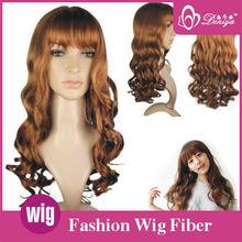 highlight color 100 kanekalon fiber synthetic wigs