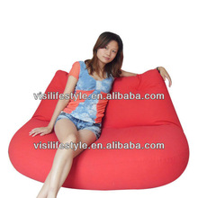 100% cotton canvas red lip shape bean bag sofa for couples and lovers