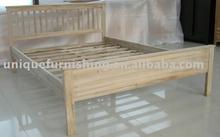 Double Oak Wood Bed