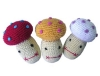 Colorful Pet Crochet Toy (Mushroom Baby)