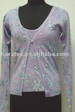 Fashion printed sweater(SNV80123)