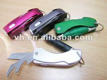 Multi-function led light pen with bottle opener and knife